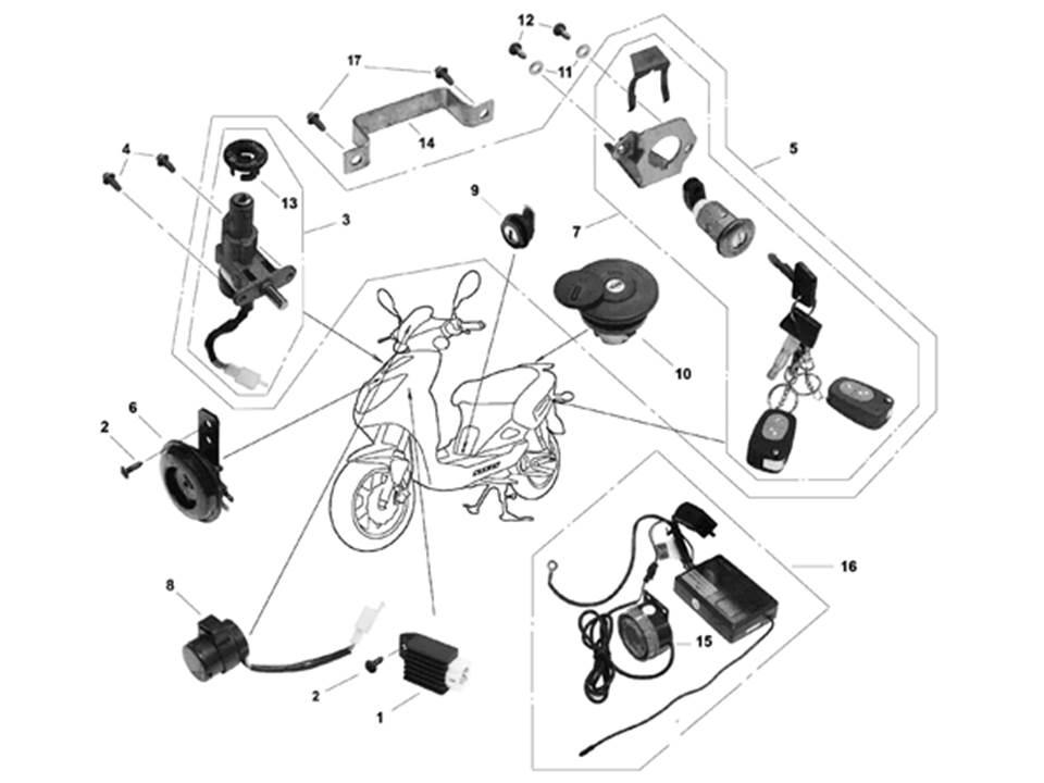 схема подключения электрики стелс 500 gt